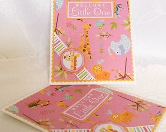 Stampin Up hand made cards: Happy New baby, Little Bundle of Joy - Welcome little one - Baby Shower, baby card - yellow - pink