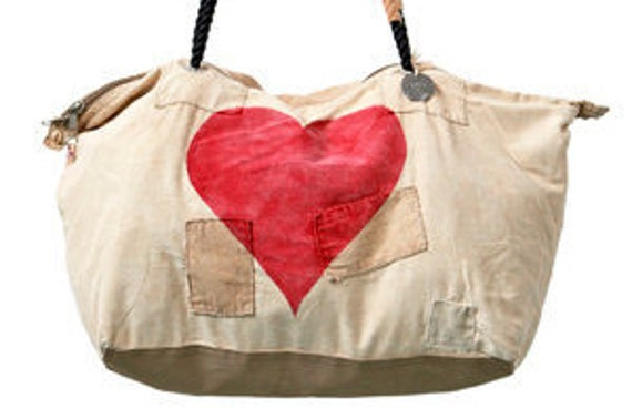 Ali Lamu Weekend Bag Heart Red