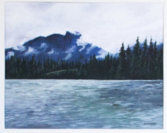 "Limited Edition Digital Fine Art Print, 11 X 14, ""Kootenay Mountains"" Signed and Numbered by Jen Unger."