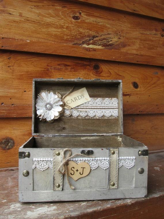 Rustic Wedding Gift Card Holder : ... Wedding Card Holder -Rustic Card Box -Card BoxBurlap WeddingGift