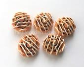 Frosted Cinnamon Bun Rolls - 5 pcs | Kawaii Decoden Supplies | Resin Cabochons | Miniature Sweets | DIY Phone Case