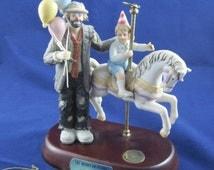 Emmett Kelly Jr. Flambro Exclusive The Merry-Go-Round Balloons Child on Carousel Horse CS-0241