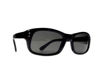 Black Sunglasses, Lou Reed Velvet Underground, Men Women Rectangular Sunglasses Secret Agent NOS Glasses Deadstock Retro Wayfarer Sunglasses