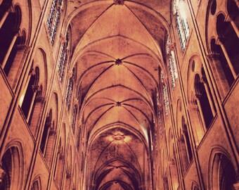 Paris photography, Notre Dame Cathedral, Paris photograph, architecture, wall art, vintage photography, Paris decor - To The Heavens