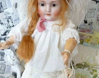 "Large 24"" Antique German Bisque Head Kley & Hahn Kestner Walkure Victorian Era Doll"