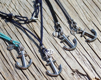 Anchor necklace - Nautical rope necklace - Anchored necklace in Stainless steel - Waterproof