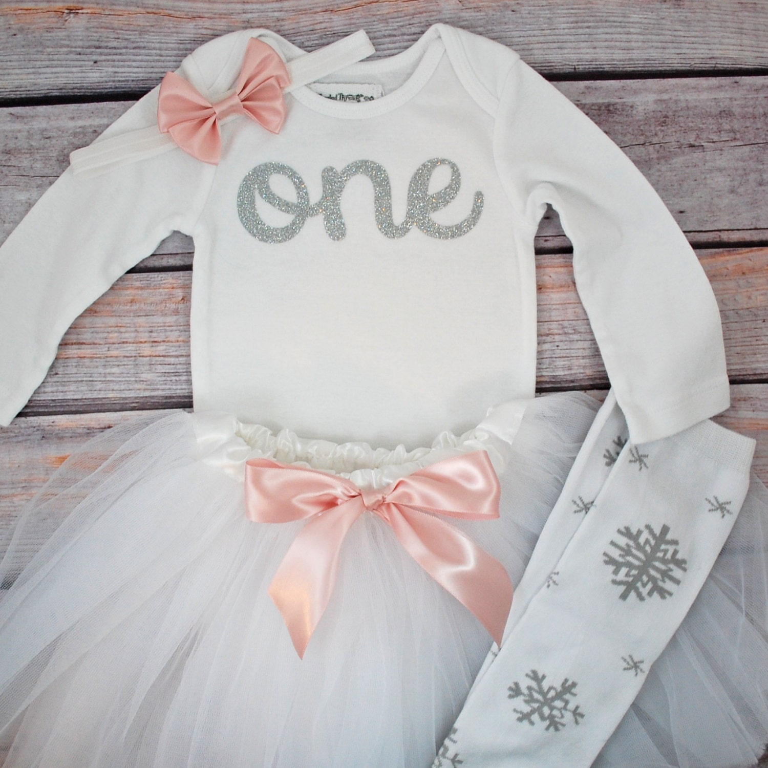 Snowflake First Birthday Winter Onederland Outfit