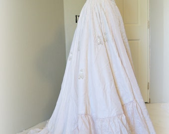 Cahill Vintage Wedding Gown,  Silk Taffeta and Velvet Wedding Gown, Cahill of Beverly Hills Vintage Wedding Gown, Champagne Pink Gown