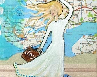 Travel with Joy - Art Print 21 x 30 cm/ 8,3 x 11,8 in