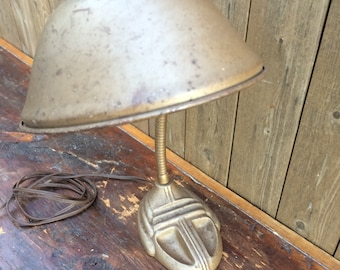 Vintage Art Deco Cast Iron Gooseneck Desk Lamp
