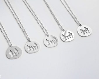 Family Necklace - S.Steel - Silver