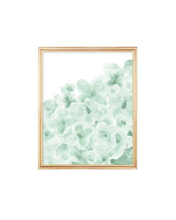 Mint Girl's Room Print, 8x10 Flowers