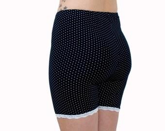 Polka Dot Biker Shorts Bamboo Jersey Bloomers Organic Underwear Tap Pants