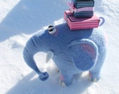 home decor - Needle Felted Toy - blue elephant - Felt Toys