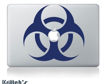 Biohazard Symbol Vinyl Decal - fits car window, laptop and so much more K275