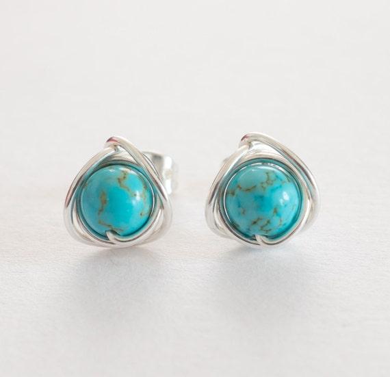 turquoise stud earrings turquoise earrings turquoise. Black Bedroom Furniture Sets. Home Design Ideas