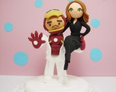 Iron man and Black widow couple CustomWedding cake topper