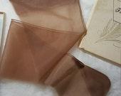Never Worn 1 PR Vintage Deep Tan FINE FEATHERS Seamed Hosiery Sz 8 1/2-31