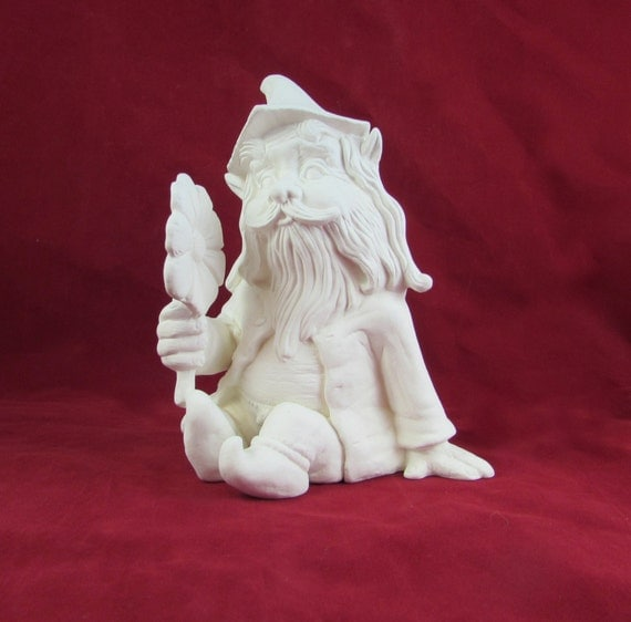 Ceramic Gnomes To Paint: Ready To Ship Ready To Paint Ceramic Garden Gnome Or Troll
