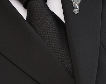Xoloitzcuintle brooch - sterling silver