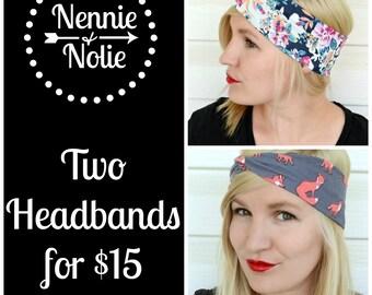 Two Headbands for Fifteen Dollars
