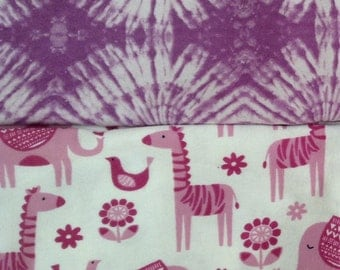 Purple lovers baby girl Blanket set PERSONALIZED name Flannel new Baby gift nursing cover swaddle blanket nursery receiving elephant