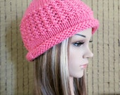 Crochet Hat, Womens Hat, Chunky Pattern Hat With Cuff, Melon Beanie, Crochet Wool  Winter Fall Fashion Hat, Student Beanie, Australia