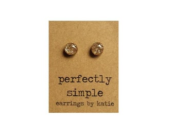 MINI champagne glitter stud earrings