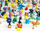 24 pcs Pokemon Monster Mini Figures Cake Toppers - Pikachu, Charizard, Charmander, Evee - Birthday Party, Cupcake Figure, Figurine Kids Toy