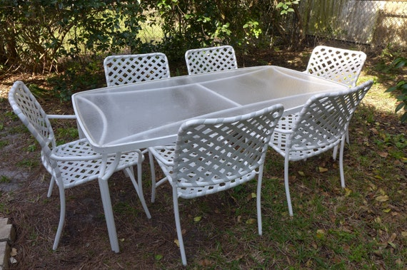 Reserved for Bob Vintage Tropitone Dining Set Acrylic Top