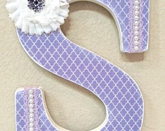 Custom Wall Letters, Purple, Lavender, Baby Name, Wooden Letters, Girl Room Nursery Decor, Personalized Gift, The Rugged Pearl