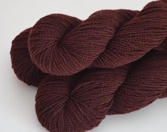 Wool Blend Reclaimed Yarn - Merlot