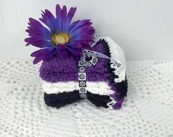 Purple Shadows Crochet Washcloths - Crochet Dishcloths - Hand Crocheted