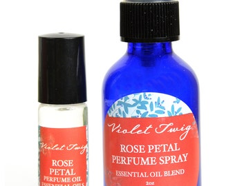 Natural Rose Perfume - Rose Fragrance - Rose Perfume - Essential Oil - Rose Perfume Oil - Rose Rollerball Oil - Aromatherapy - Floral Blend