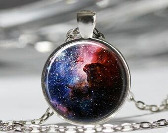 Carina Nebula Necklace, Space Constellation Pendant, Space Galaxy Jewelry [D15]