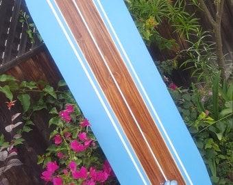 6ft. classic SURFBOARD WALL ART hawaiian surf beach hibiscus decor longboard tiki sun