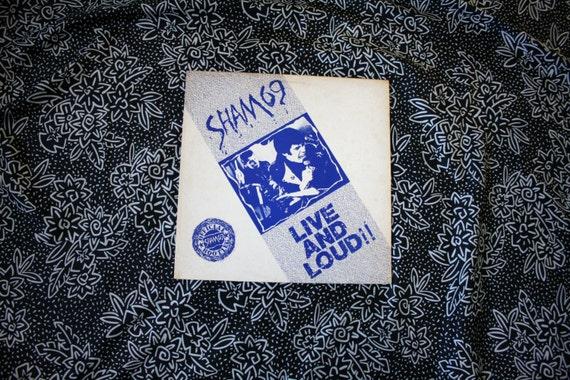 Sham 69 Live And Loud Official Bootleg Vintage Vinyl Lp