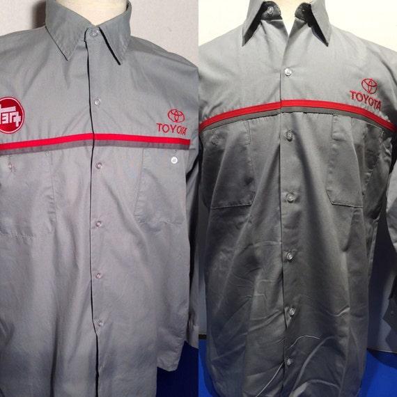 Vintage Toyota Teq Mechanics Dealer Long Sleeve Shop Shirt