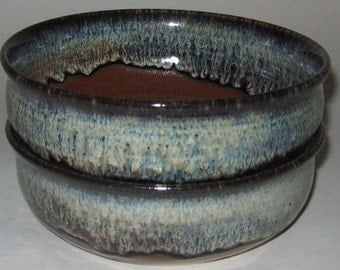 Pottery Pasta Bowl, Low Wide Soup and Salad Bowl, Rainforest Brown, Microwave, Diswasher Safe