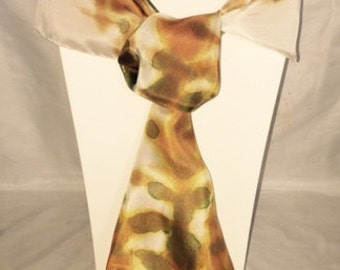 Hand Painted Silk Scarf Forest