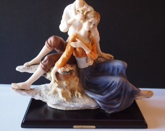 Large Resin Statue Girl and Boy
