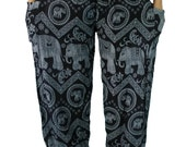 Black Elephant pants /Hippies pants /Boho pants Yoga Pants one size fits Black