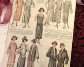 1920s Fashions, Downton Abbey Era Fashions, Pattern Magazine Page, 1923, Wall Art Décor, Roaring 20s, Jazz Age, Flapper, Fashionista Gift