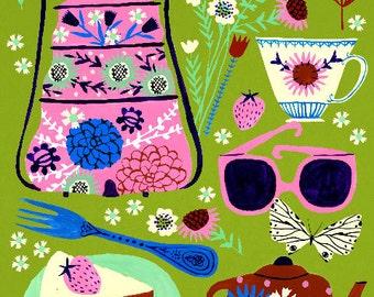 "Summer Picnic 8""x10"" Archival Art Print"