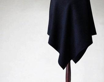 Cashmere poncho, navy poncho, navy coat, women's coat, wool coat, women's poncho, women's cape, wool poncho,women's sweater,cashmere sweater