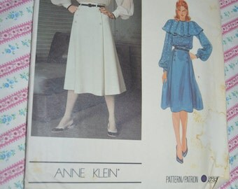Vogue 2733 Anne Klein Misses Blouse and Skirt Sewing Pattern - UNCUT - Sizes 12