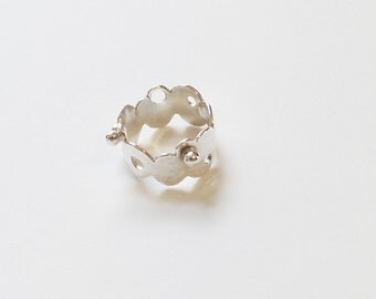 Silver Bubble Ring / Funky Silver Ring