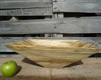 Hackberry wood bowl - Wood bowl - Table centerpiece - Tall wood bowl - Wood salad bowl - Primitive wood bowl - Carved wood bowl, Wooden bowl