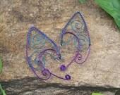 Elf Ear Cuffs - Peacock - Elven Jewelry - Pixie Ears - Fairy Ears - Faery Ears
