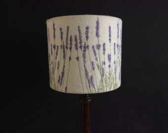 Embroidered Lavender Lampshade